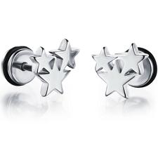 """Örhänge """"Steel Star"""" i Rostfritt stål -Unisex"""