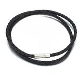 Armband i Läder och rostfritt stål