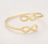 "Ring ""Double Forever"" i 18K Guldplätering"