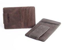 Plånbok i Nubuckläder med magnetisk sedelklämma -GUBINTU