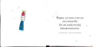 Två böcker -Mamma! och Pappa!