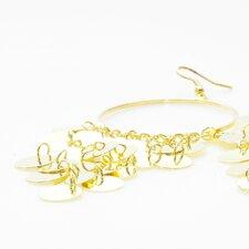 Paljettörhängen i pläterat guld och järn