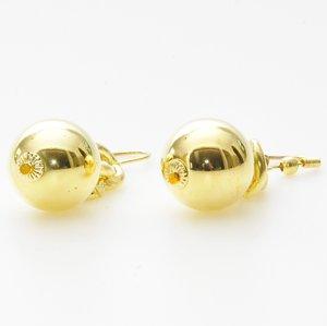 Eleganta örhängen i pläterat guld