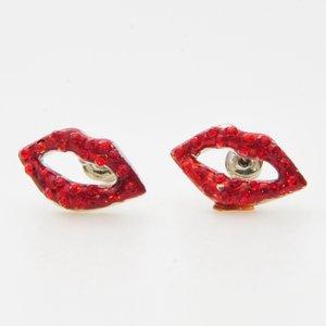 Små hotlips örhängen med små gnistrande stenar