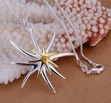 """Halsband """"Starfish"""" i 925 Sterling Silverplätering"""
