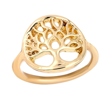 "Ring ""Tree of Life"" i 18K Guldplätering"