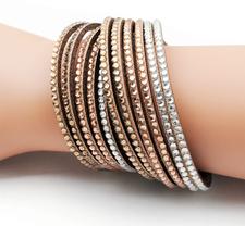 "Armband ""Strass""  -Brun/Multi"