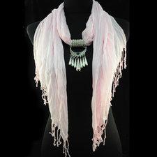 """Bomullsscarf i moderiktig modell med """"hänge"""" -Rosa"""