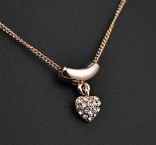Halsband Hjärtformat med Stellux Austrian Crystals och guldplätering