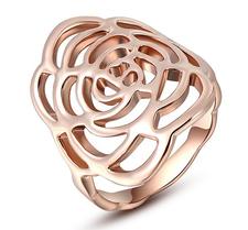 """Ring """"Rose"""" i 18 K Ros Guldplätering"""