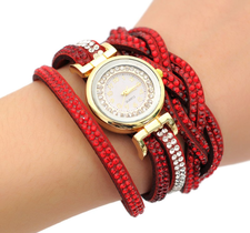 Klocka - Femme -Röd