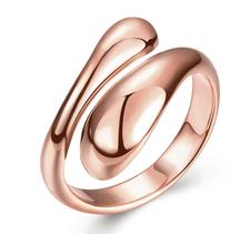 """Ring """"Droppe"""" i 18K Roséguldplätering"""