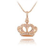 """Halsband """"Crown"""" i  med Austrian Crystals och i Guldplätering"""
