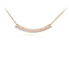 Halsband med Austrian Crystals och i Guldplätering
