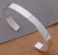 """Armband """"Open Smooth"""" i 925 Sterling Silverplätering"""