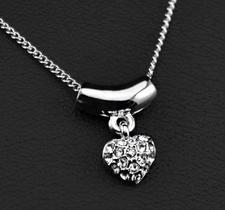 Halsband Hjärtformat med Stellux Austrian Crystals och platinumplätering