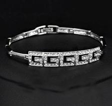 Armband med Stellux Austrian Crystals och platinumplätering