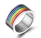 """Ring """"Rainbow""""  i Rostfritt stål"""