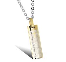 "Halsband ""Spanish Cross"" i Rostfritt stål -Guld"