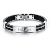 Armband i Silikon med wire och detaljer i rostfritt stål