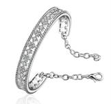 Armband med Cubic Zirconia samt i 925 Sterling Silverplätering