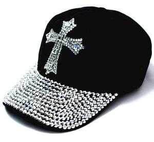 Strasskeps Cross -Svart