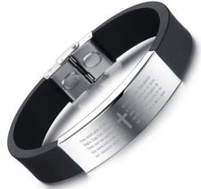 """Armband """"Spanish Cross"""" i Silikon och rostfritt stål"""
