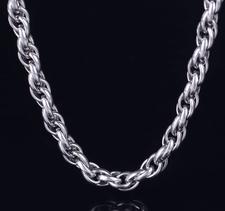 Halskedja i rostfritt stål 10 mm -längd 55 cm