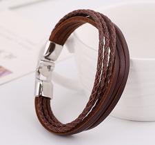 Läderarmband -Brun