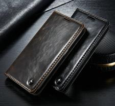 Plånboksfodral till Samsung Galaxy S6, S6 Edge, S8 och S8 Plus med magnetlås