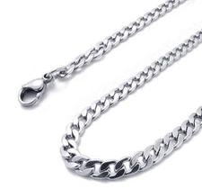 Halskedja i rostfritt stål 3 mm -längd 50 cm resp. 65 cm