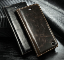 Plånboksfodral till iphone 5/5S, 6, 6 Plus, 7, 7 Plus, 8, 8 Plus och X med magnetlås