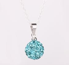 Shamballainspirerat Halsband -Turkosa kristaller