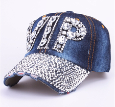 Strasskeps VIP -Jeans