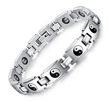 "Magnetarmband ""Yin & Yang"" i Rostfritt stål"