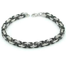 Armband i rostfritt stål -Silver/Svart