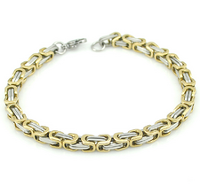 Armband i rostfritt stål -Silver/Guld