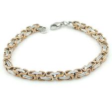 Armband i rostfritt stål -Silver/Rosen Guld