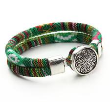 "Armband ""Tibetan"" i bomull -Grön"