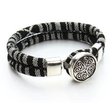 "Armband ""Tibetan"" i bomull -Svart"